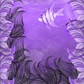 Angelfish purple ocean exotic seaweed Royalty Free Stock Image