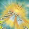 Angelic bells abstract image yellow andblue Stock Images