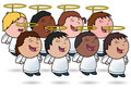 Angelic Kid's Choir Stock Photography
