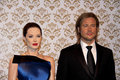 Angelina jolie and brad pitt london united kingdom july madame tussauds in london waxwork statues of created by madam tussauds in Royalty Free Stock Photography