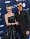 Angelina Jolie & Brad Pitt Royalty Free Stock Photo