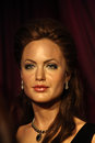 Angelina jolie jolies wax statue at madame tussauds museum at hong kong Royalty Free Stock Photos