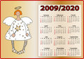 Angels calendar 2009 and 2020 Royalty Free Stock Photos