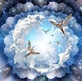 Angels coming Royalty Free Stock Photo
