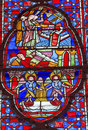 Angels Disciples Stained Glass Sainte Chapelle Paris France Royalty Free Stock Photo