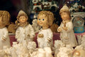 Angels figurines for christmas tree Stock Photography