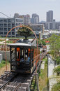 Angels' Flight cable car. Royalty Free Stock Photos