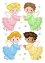 Angels four little in flight Royalty Free Stock Photography