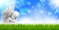 Angels guardian angels easter angel on meadow Royalty Free Stock Image