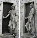 Angels Guarding Mausoleum Royalty Free Stock Photos
