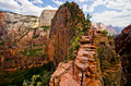 Angels Landing at Zion National Park, Utah Royalty Free Stock Photo