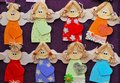 Angels many small wooden smiling Stock Photos
