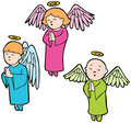 Angels praying Royalty Free Stock Photo