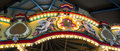 Angels on top of a caroussel colorful as part merry go around for children at entertainment area Royalty Free Stock Image