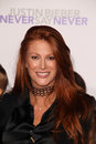 Angie everhart justin bieber at the never say never los angeles premiere nokia theater los angeles ca Royalty Free Stock Images