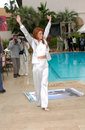 Angie everhart may actress at the cannes film festival to promote her new movie gunblast vodka paul smith featureflash Stock Images