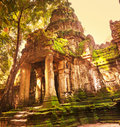 Angkor ancient ruins in cambodia Royalty Free Stock Photos
