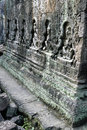Angkor banteay柬埔寨破坏srei寺庙wat 免版税库存照片