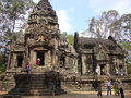 Angkor one of the many temples in cambodia better known like wat that is the name of the most famous temple is in siemp Stock Photography