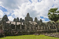 Angkor temples bayon temple within the cambodia Stock Image