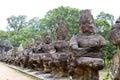 Angkor Thom bridge Royalty Free Stock Photo
