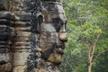 Angkor Thom Face Royalty Free Stock Photo