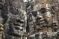 Angkor Thom's Smiling Faces Royalty Free Stock Photo