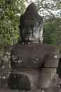 Angkor thom siem reap cambodia on was inscribed on the unesco world heritage list in Stock Image