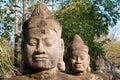 Angkor Thom South Gate faces 1 Royalty Free Stock Photos