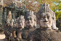 Angkor Thom South Gate faces 3 Royalty Free Stock Images