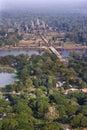 Angkor Wat Aerial View Stock Image
