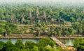 Angkor Wat Aerial View, Siem Reap, Cambodia Royalty Free Stock Photo
