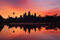 Angkor wat cambodia at sunrise Stock Images