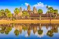 Angkor Wat, Cambodia. Royalty Free Stock Photo