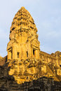 Angkor Wat in the golden morning light of sunrise Royalty Free Stock Photo