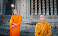 Angkor Wat Monks Royalty Free Stock Images