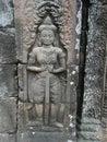 Angkor Wat Warrior Close-Up Relief Royalty Free Stock Photo
