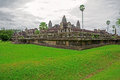 Angkor Wat side view Royalty Free Stock Image