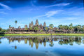 Angkor wat status of at siem reap cambodia Stock Photos