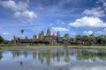 Angkor wat status of at siem reap cambodia Stock Image