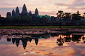 Angkor Wat at sunrise. Cambodia Royalty Free Stock Photo