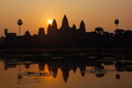 Angkor wat sunrise at siem reap cambodia Royalty Free Stock Images