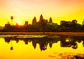 Angkor Wat sunrise at Siem Reap. Cambodia Royalty Free Stock Photo