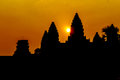 Angkor Wat at sunrise Royalty Free Stock Photo