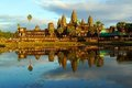 Angkor Wat at sunset, Cambodia Stock Image