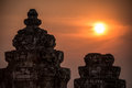 Angkor wat at sunset cambodia temples ancient civilization asia tradition culture and religion Stock Photos
