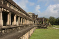 Angkor Wat Temple outer gallery Stock Photo