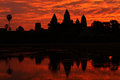 Angkor wat temple at sunrise, Cambodia Royalty Free Stock Photo