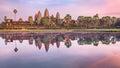 Angkor Wat temple at sunrise, Siem Reap, Cambodia Royalty Free Stock Photo