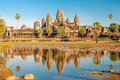 Angkor wat view at the Royalty Free Stock Photo